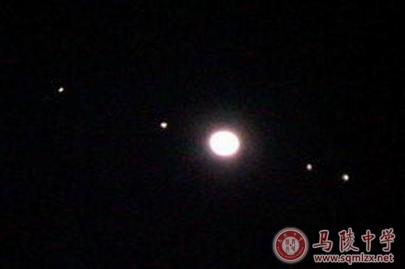 地看到木星和它的四